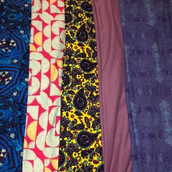 107c915bdd8cc2 LuLaRoe Pants - Bundle of 4 tween size Lularoe leggings